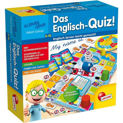 Lisciani Kleines Genie Das Englisch-Quiz