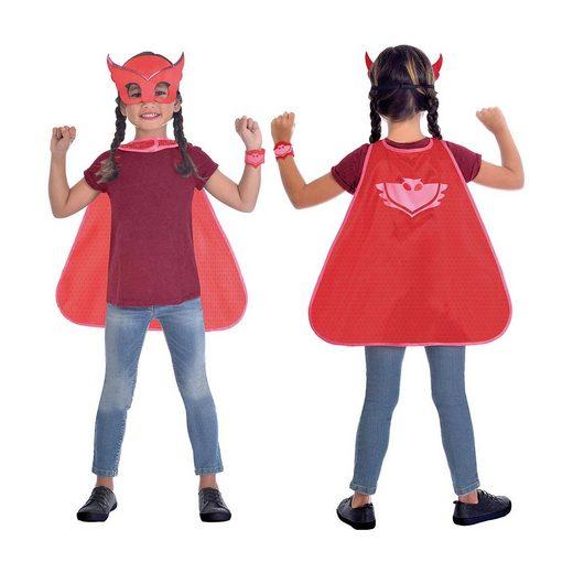 Amscan Kinder Umhang-Set PJ Masks Owlette, 3-tlg.