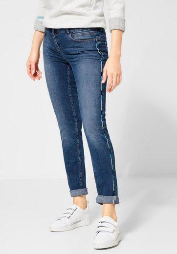 Cecil Slim-fit-Jeans mit Galon Streifen