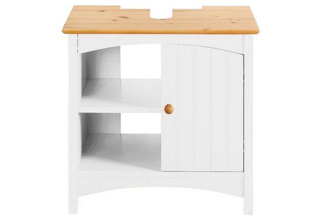 heine home Waschbeckenunterschrank mit Siphonausschnitt weiß   04750710409278