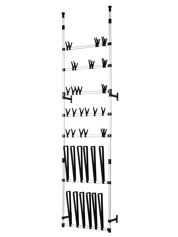 Schuh-/Stiefelregal, variabel in alufarben