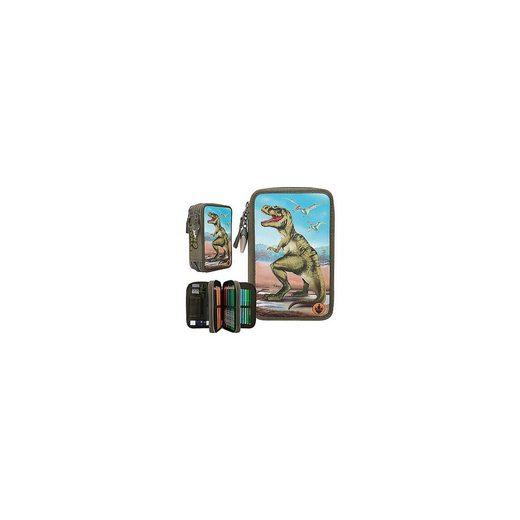 Depesche Dino World 3-fach-Federmäppchen mit LED