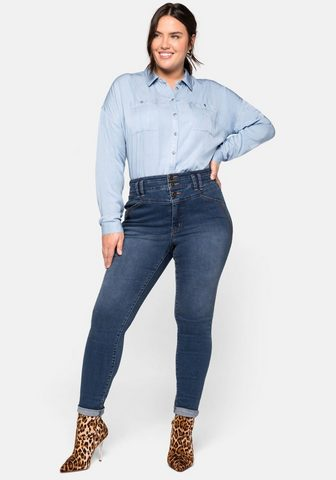 Sheego Stretch-Jeans Skinny Džinsai su High W...