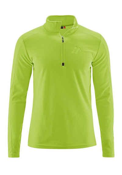 Maier Sports Langarmshirt »Dennis« Vielseitiger, funktioneller Fleecerolli, schnelltrocknend