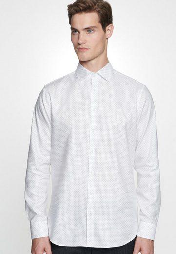 seidensticker Businesshemd »Tailored« Tailored Langarm Kentkragen Punkte