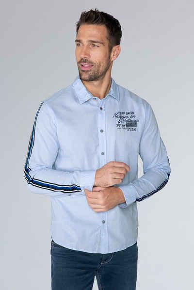 CAMP DAVID Langarmhemd aus Baumwolle