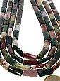 Adelia´s Kette ohne Anhänger »Jaspis bunt Steinstrang eckig - 40 cm«, Bild 2
