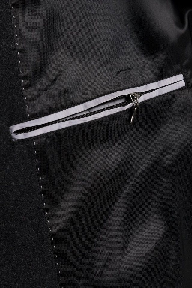 jp1880 -  Langmantel bis 7 XL Wollmantel Knopfleiste Reverskragen gefüttert 2 Taschen
