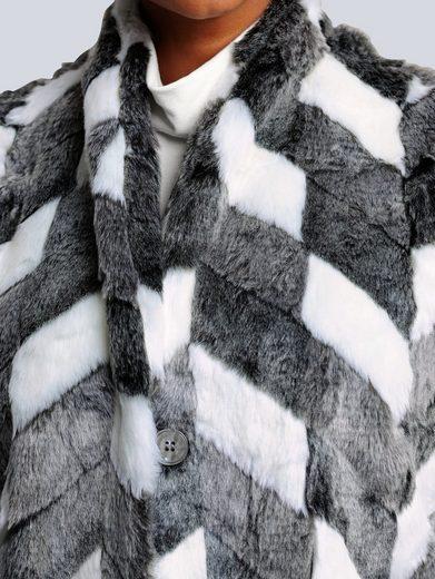 Alba Moda Weste aus weichem Fellimitat