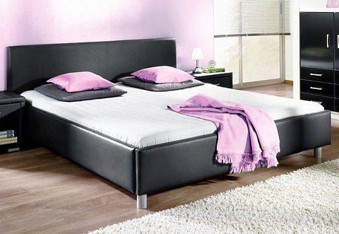 Bett in schwarz