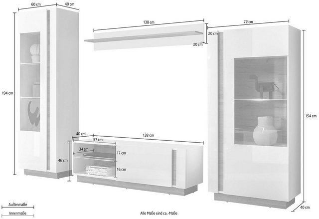Wohnwände - Wohnwand »CLAiR Kombi 21«, (Set, 4 tlg)  - Onlineshop OTTO