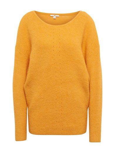 TOM TAILOR Denim V-Ausschnitt-Pullover »Pullover mit eingesetzter Spitze«
