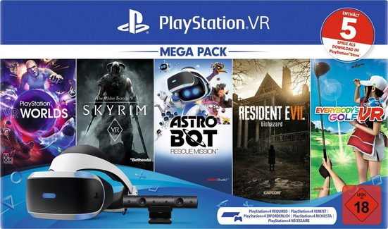 PlayStation 4 »VR Mega Pack 2« Virtual-Reality-Brille (OLED, inkl. Kamera und 5 Spiele (Voucher 2.0)