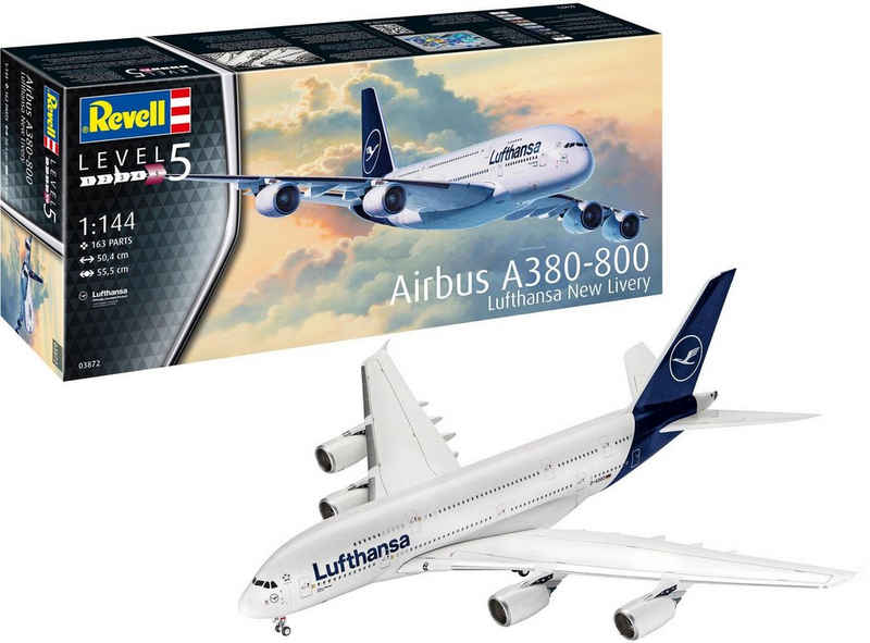 Revell® Modellbausatz »Airbus A380-800 Lufthansa - New Livery«, Maßstab 1:144, Made in Europe