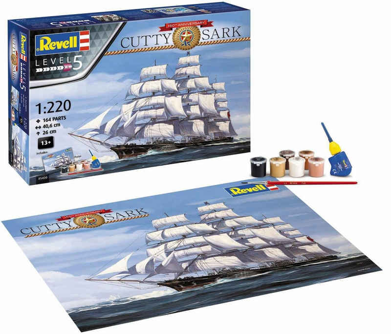 Revell® Modellbausatz »150 Jahre Cutty Sark«, Maßstab 1:220, Made in Europe