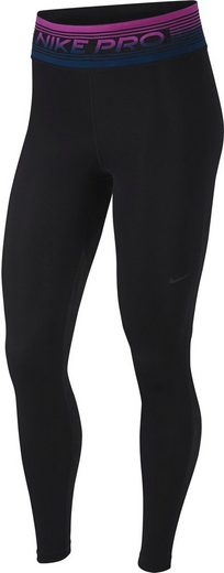 Nike Funktionstights »Nike Pro Women's Printed Tights« Flockprint am Bund