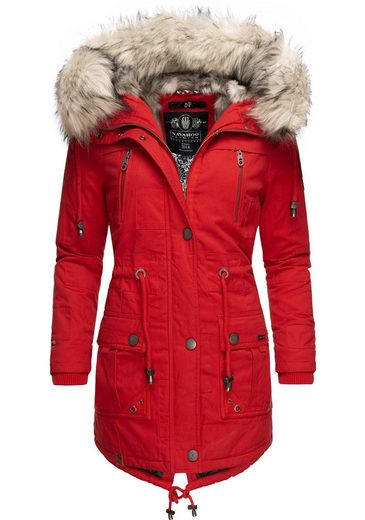 Navahoo Wintermantel »Honigfee« stylischer Damen ...