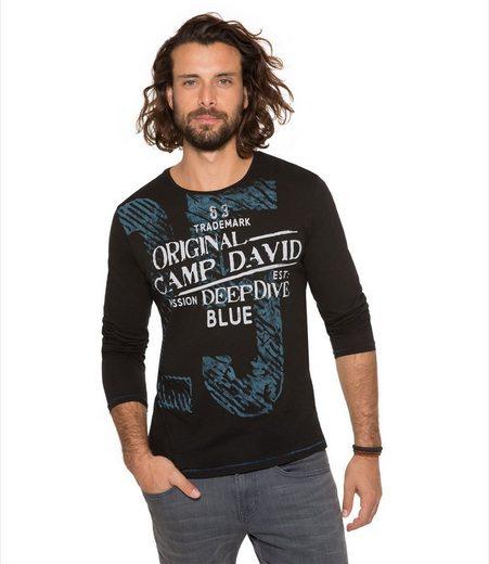 CAMP DAVID Langarmshirt aus Baumwolle