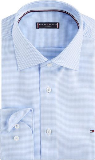 Tommy Hilfiger TAILORED Businesshemd Vichy-Muster