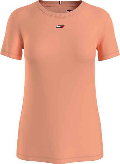 Tommy Hilfiger Sport T-Shirt »REGULAR FABRIC MIX TEE SS« mit Tommy Hilfiger Sport Logo-Flag