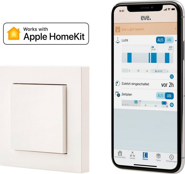 EVE »Light Switch (HomeKit)« Smarter Lichtschalter | Baumarkt > Elektroinstallation > Lichtschalter | EVE