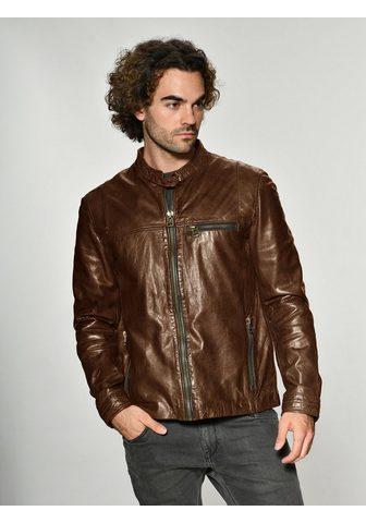 Куртка кожаная с карман »Puckham...