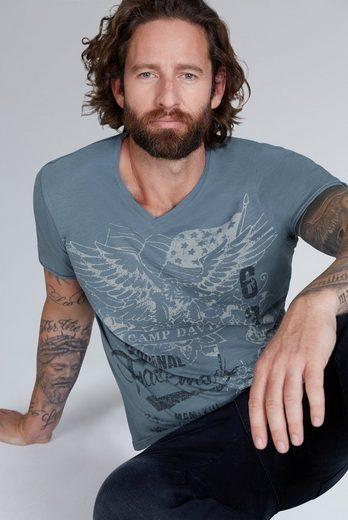 CAMP DAVID V-Shirt mit maskulinem V-Ausschnitt
