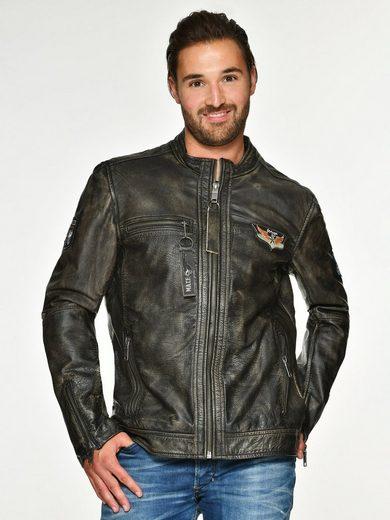 Maze Lederjacke mit Zippertaschen »Varberg«