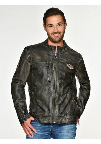 Куртка кожаная с Zippertaschen »...