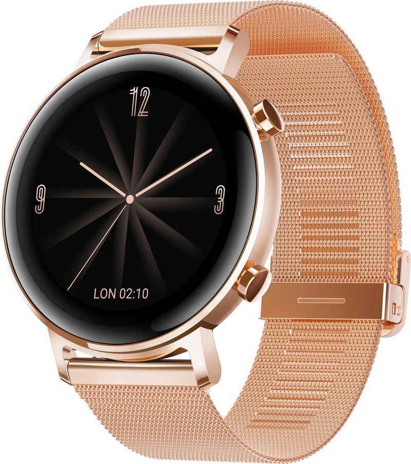 Huawei Watch GT 2 Elegant Smartwatch (1,2 Zoll, RTOS), 24 Monate Herstellergarantie