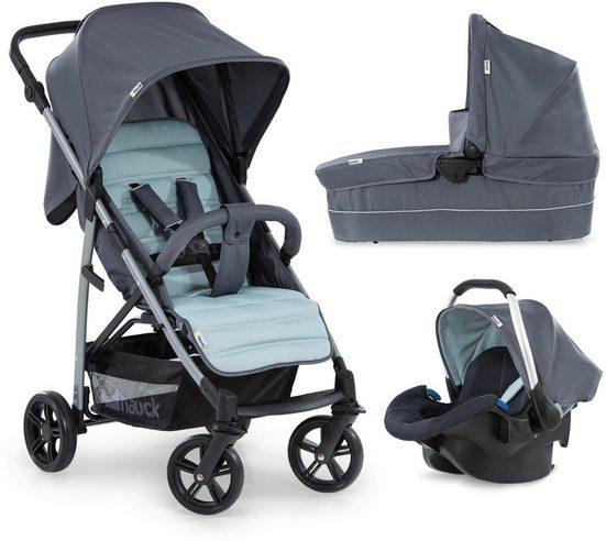 Hauck Kombi-Kinderwagen »Rapid 4 Plus TrioSet, grey/mint«, mit Babyschale