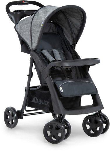 Hauck Kinder-Buggy »Shopper Neo II, melange grey/charcoal«, mit schwenk- und feststellbaren Vorderrädern