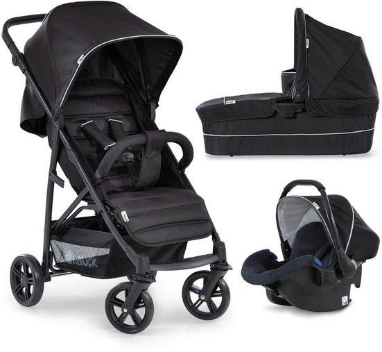 Hauck Kombi-Kinderwagen »Rapid 4 Plus TrioSet, caviar/black«, mit Babyschale