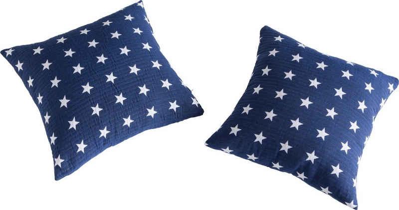 Kissenhüllen »Yolanda«, my home (2 Stück), mit hochwertigem Sternenmuster
