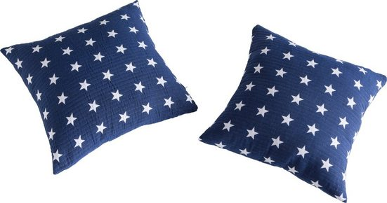 Kissenhüllen »Yolanda«, Vialman Home (2 Stück), mit hochwertigem Sternenmuster