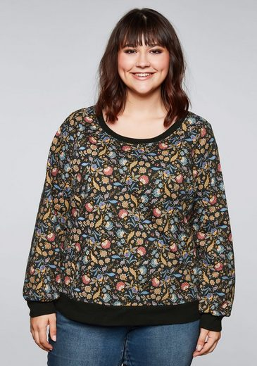 Sheego Sweatshirt mit floralem Alloverdruck