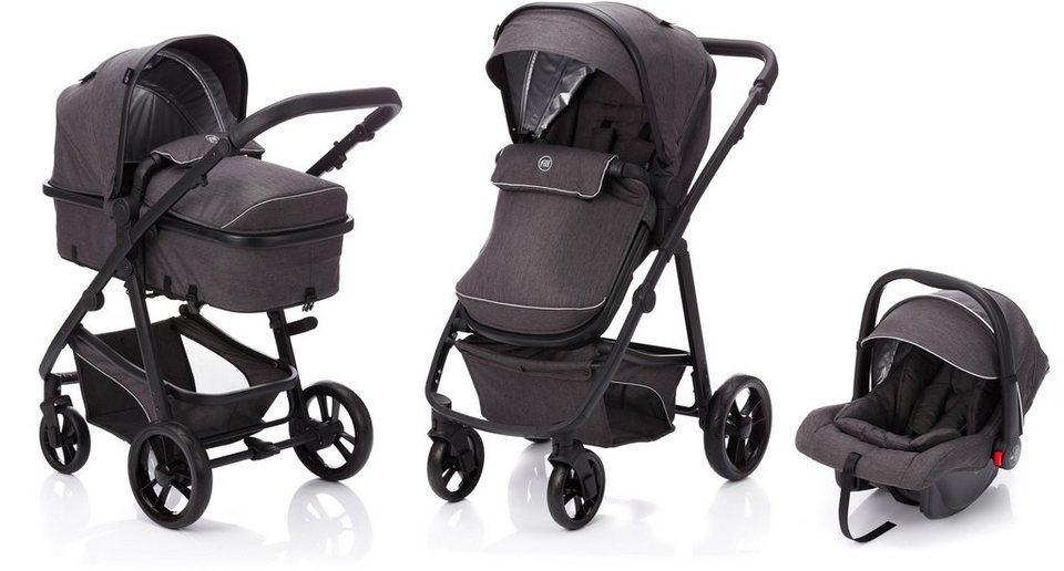 fillikid kombi kinderwagen panther dunkelgrau mit babyschale online kaufen otto. Black Bedroom Furniture Sets. Home Design Ideas