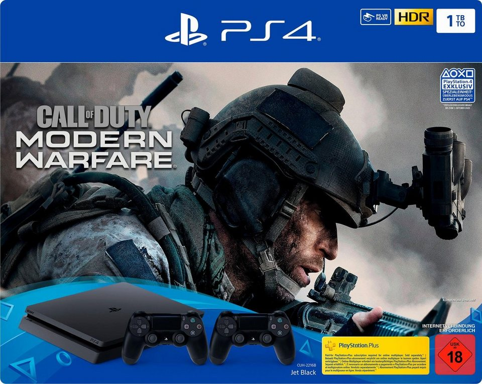 PlayStation 4 Slim (PS4 Slim) 1TB, inkl. Call of Duty Modern Warfare