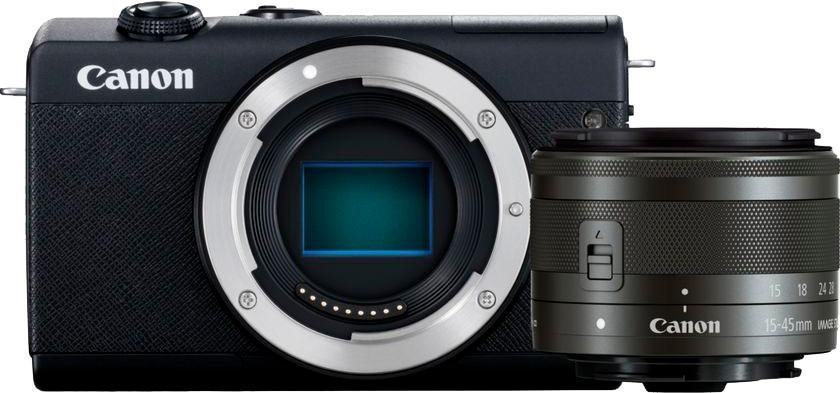 Systemkameras - Canon »EOS M200 EF M 15 45mm f3.5 6.3 IS STM Kit« Systemkamera (EF M 15 45mm f 3.5 6.3 IS STM, 24,1 MP, Bluetooth, WLAN (Wi Fi)  - Onlineshop OTTO