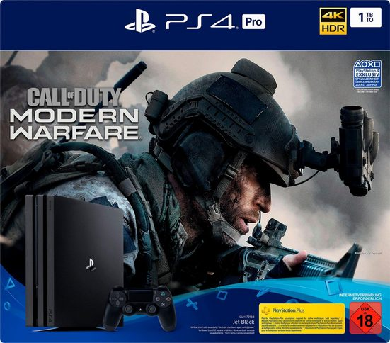 PlayStation 4 Pro (PS4 Pro) 1TB, inkl. Call of Duty Modern Warfare