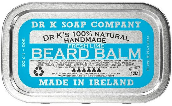 DR K SOAP COMPANY Bartbalsam »Fresh Lime«, 100% natürlich