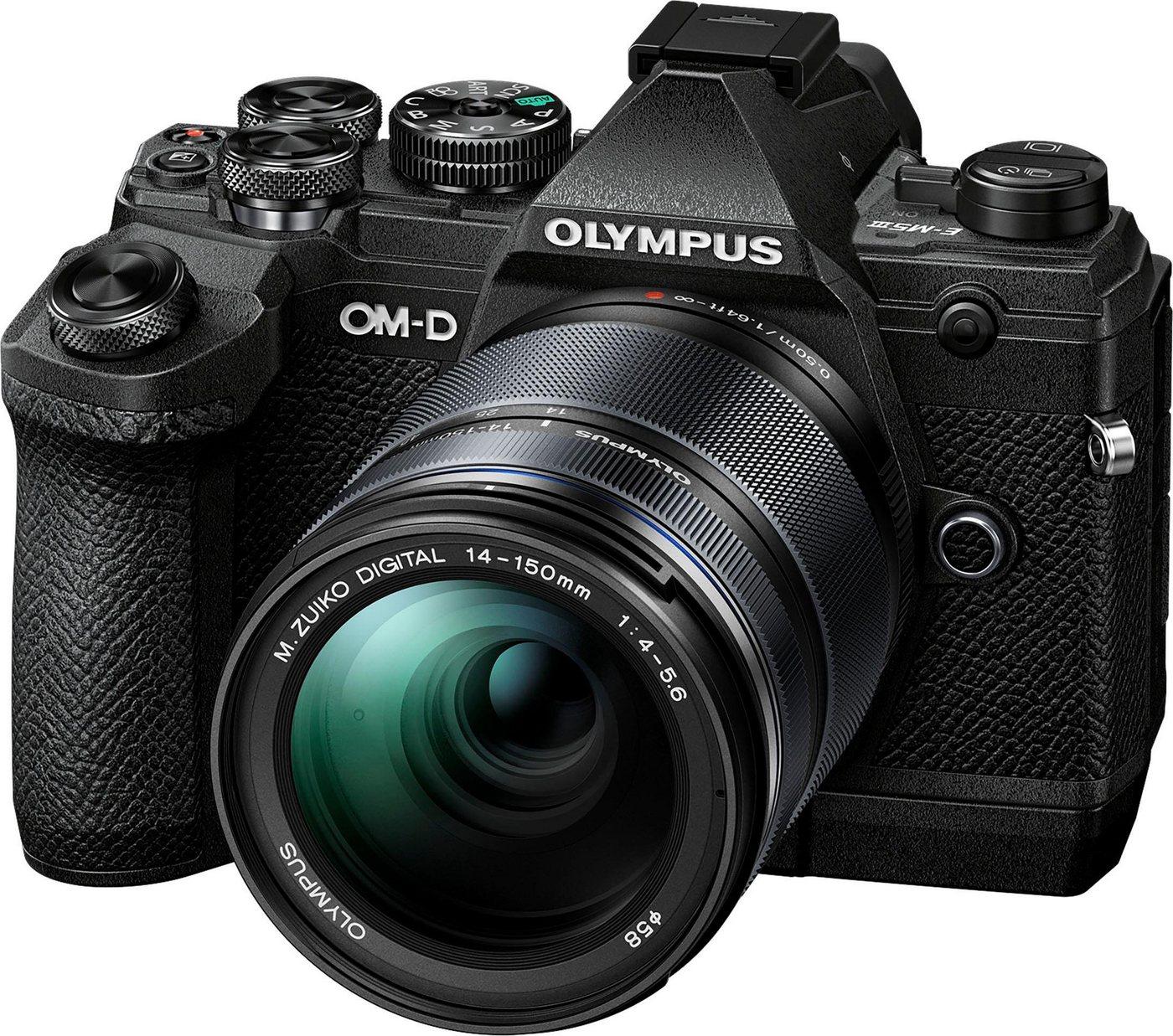 Systemkameras - Olympus »E M5 III inkl. 14 150mm Objektiv« Systemkamera (M.Zuiko Digital ED 40 150mm F 4 5.6, 20,4 MP, Bluetooth, NFC)  - Onlineshop OTTO