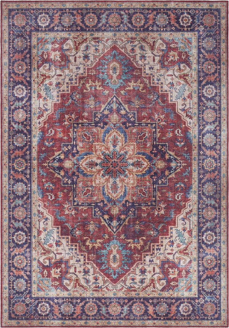 Teppich »Anthea«, NOURISTAN, rechteckig, Höhe 5 mm, Vintage Design, Orient-Optik, Wohnzimmer