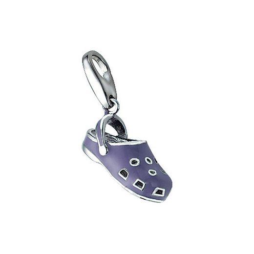 GIORGIO MARTELLO MILANO Charm-Einhänger »Schuh mit Kaltemaille, Silber 925«