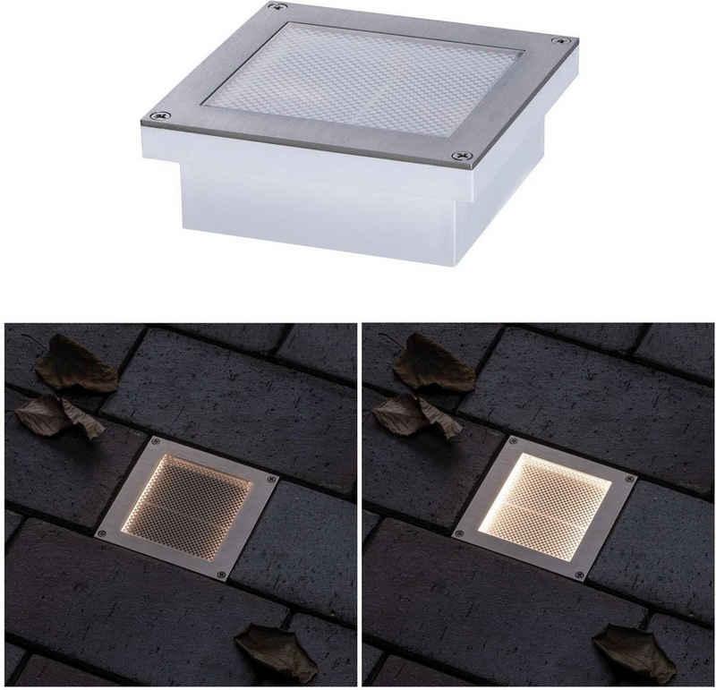 Paulmann LED Einbauleuchte »LED Bodeneinbauleuchte Garten/Wege/Beetbeleuchtung Aron 10x10 cm«