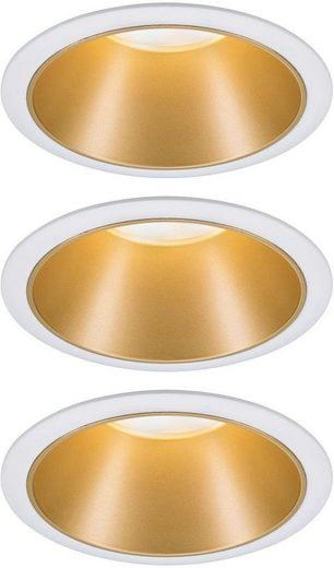 Paulmann LED Einbauleuchte »3er Set Cole 3x6,5W Weiß/Gold matt 3-Stufen-dimmbar 2700K Warmweiß«, Deckenspots, 3er Set