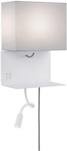 Paulmann LED Wandleuchte »Merani Grau/Weiß max 1x40W/3W E27 Stoff/Metall«