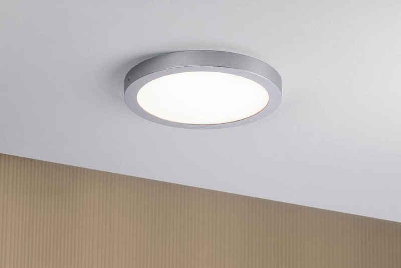 Paulmann LED Deckenleuchte »Abia LED-Panel 300mm 22W Chrom matt Kunststoff«, LED Deckenlampe