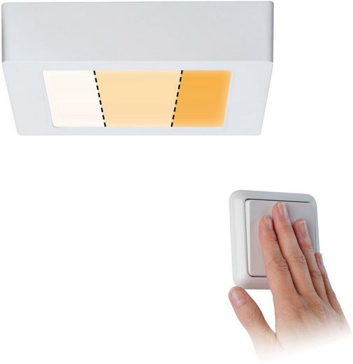 Paulmann LED Deckenleuchte »Carpo LED Panel Warmdimmfunktion Weiß matt 10,2W Metall«, 1-flammig