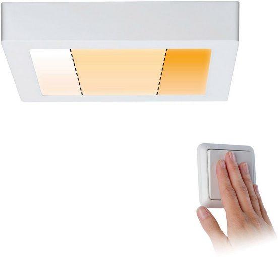 Paulmann LED Deckenleuchte »Carpo LED Panel Warmdimmfunktion Weiß matt 13W Metall«, 1-flammig